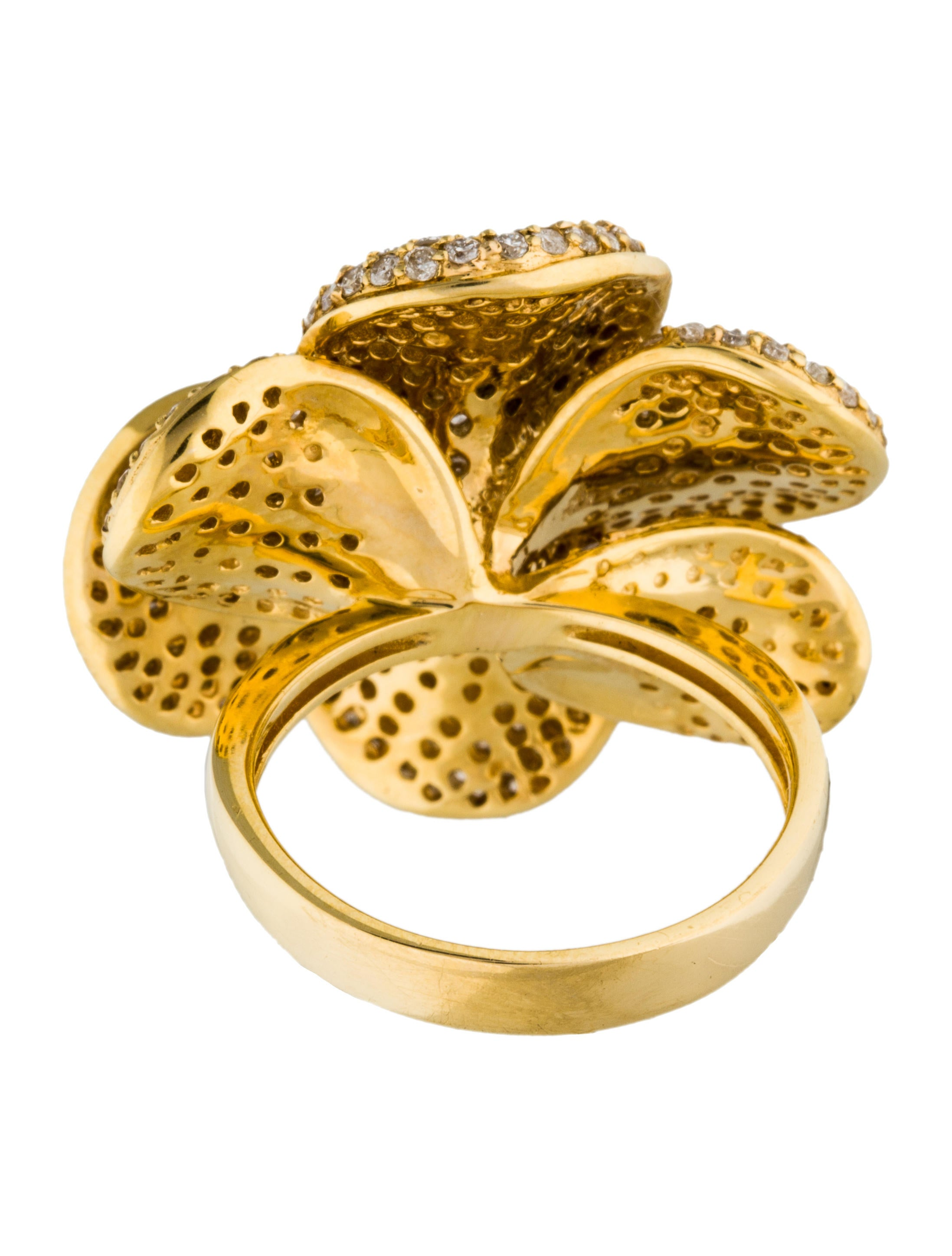 18K Diamond Flower Cocktail Ring Rings RRING