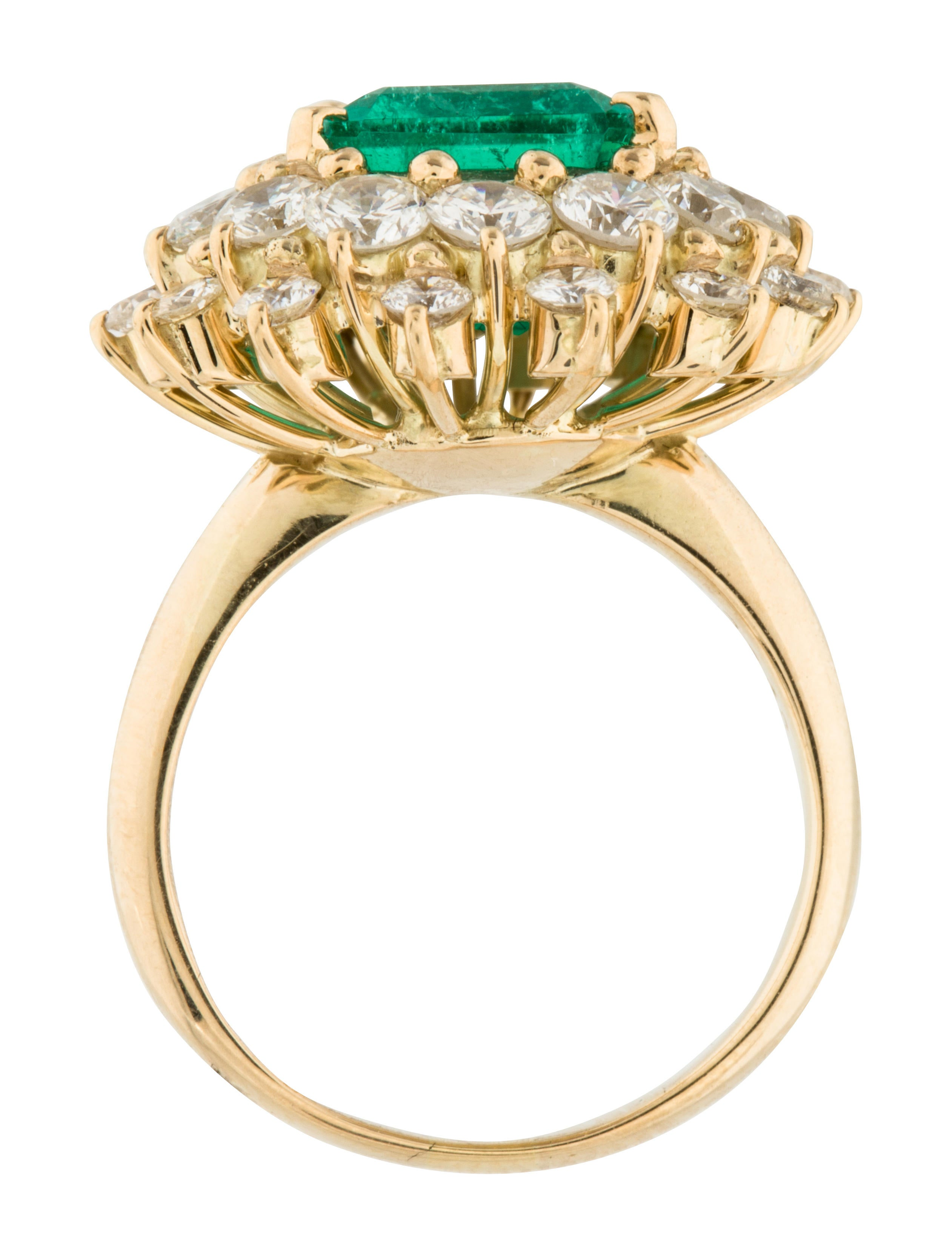 18k emerald ring rings rring34350 the realreal