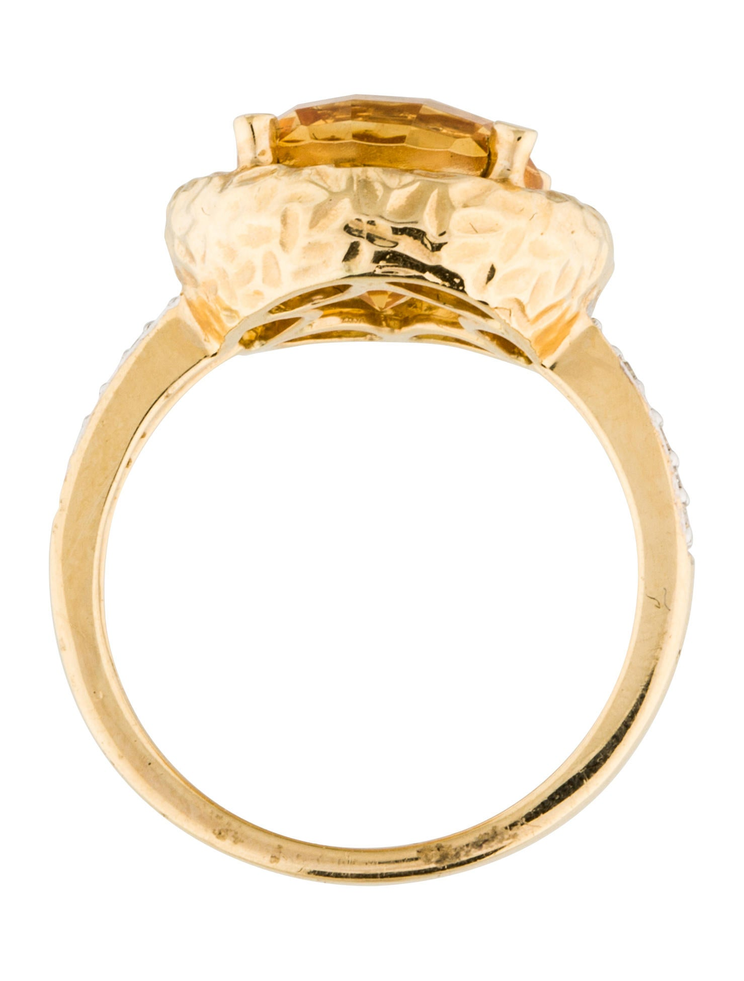 14k citrine amp diamond cocktail ring rings rring34432