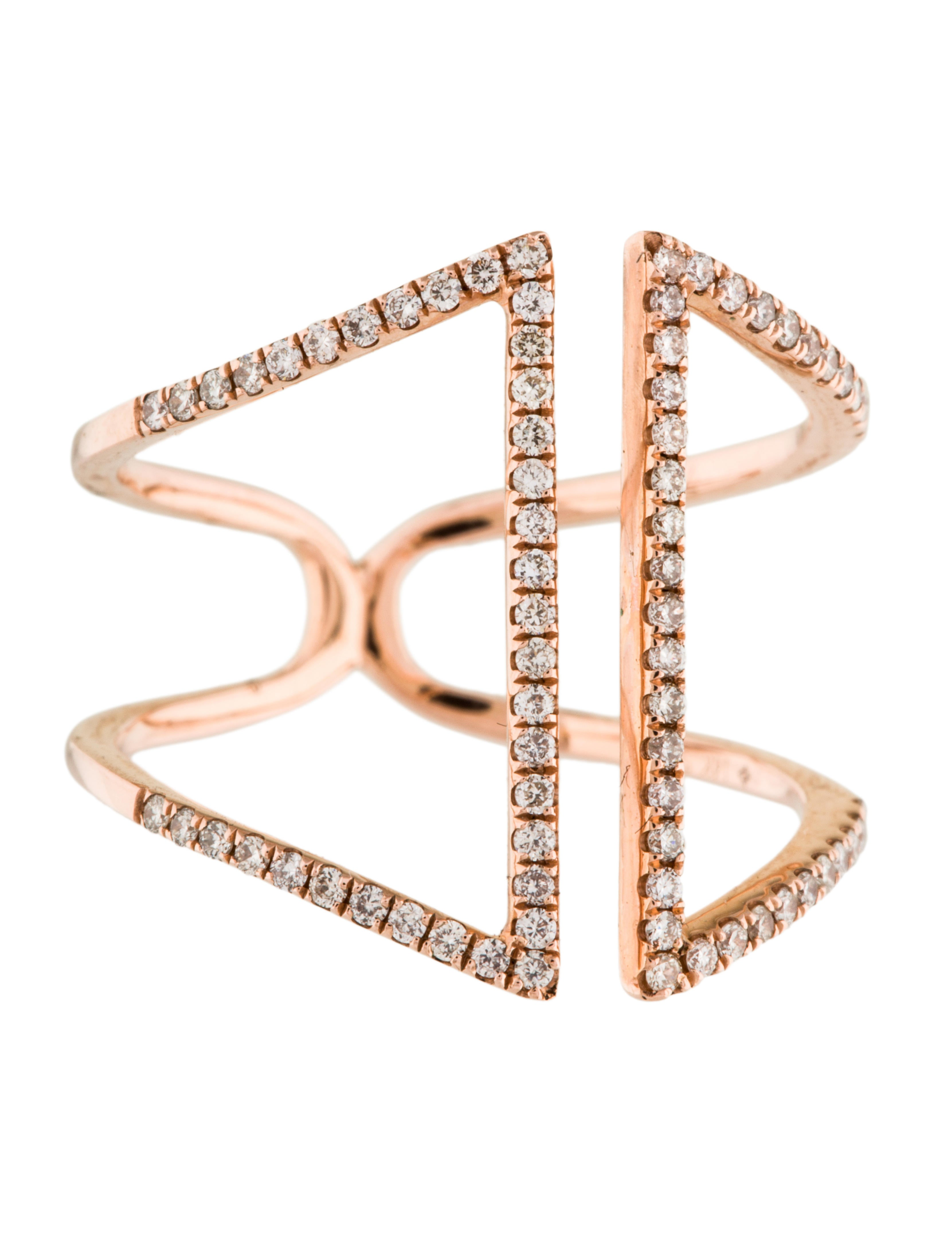 14k cage ring rings rring34437 the realreal