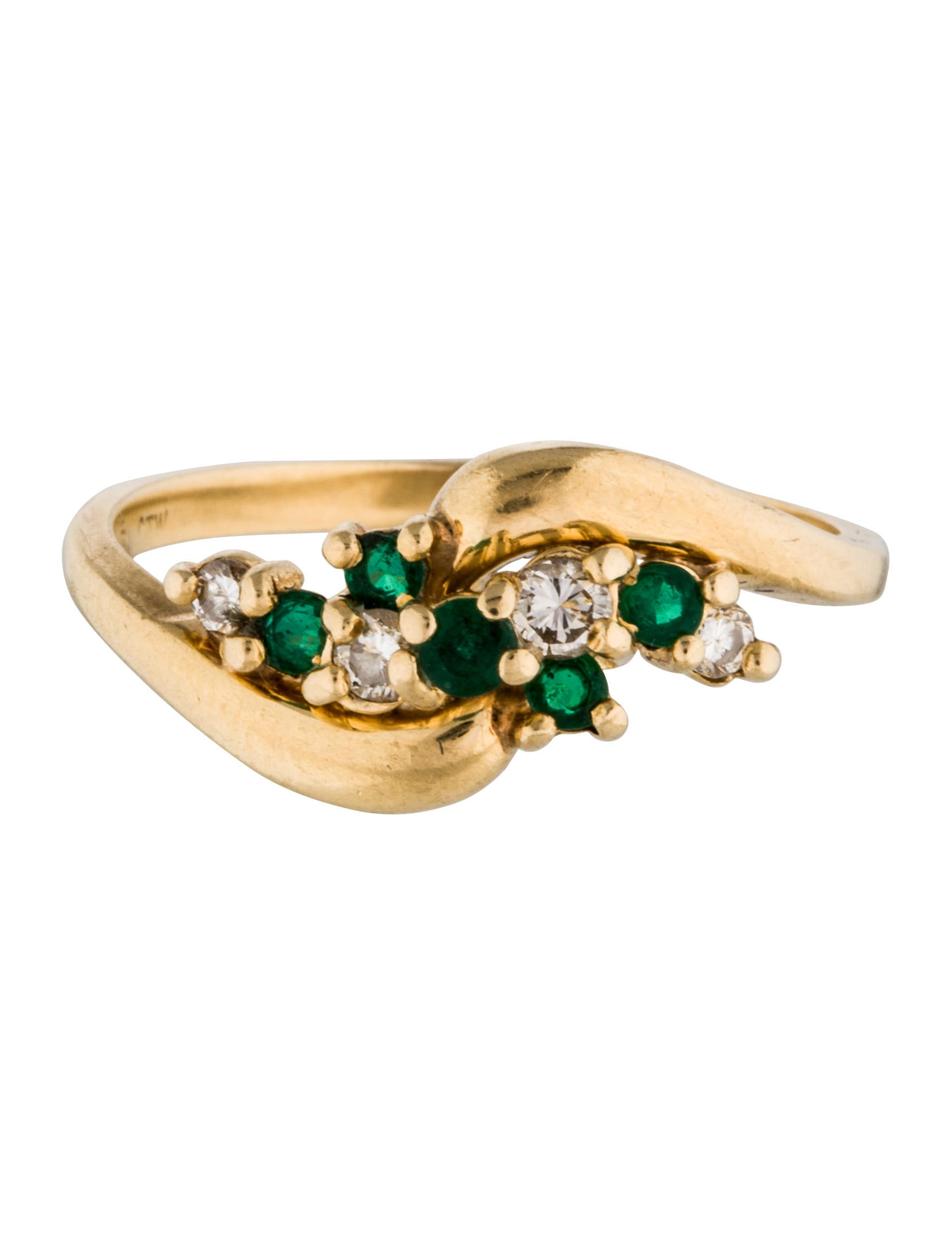 14k emerald ring rings rring34481 the realreal