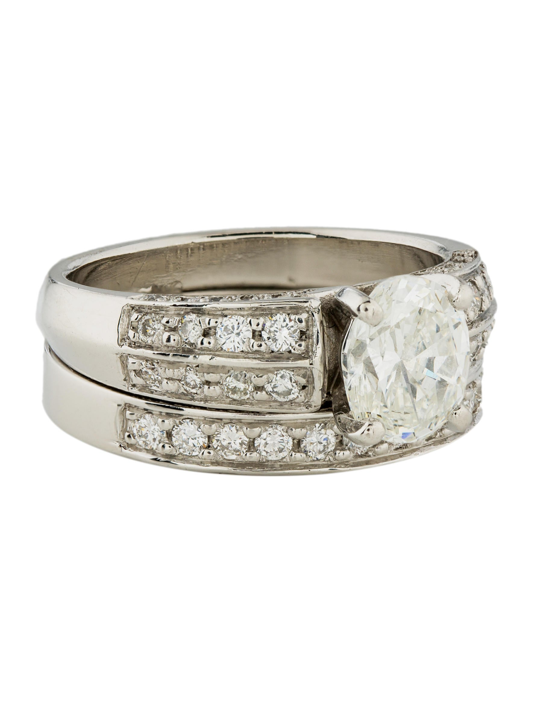 Platinum diamond wedding set ring rings rring34533 for Platinum wedding rings