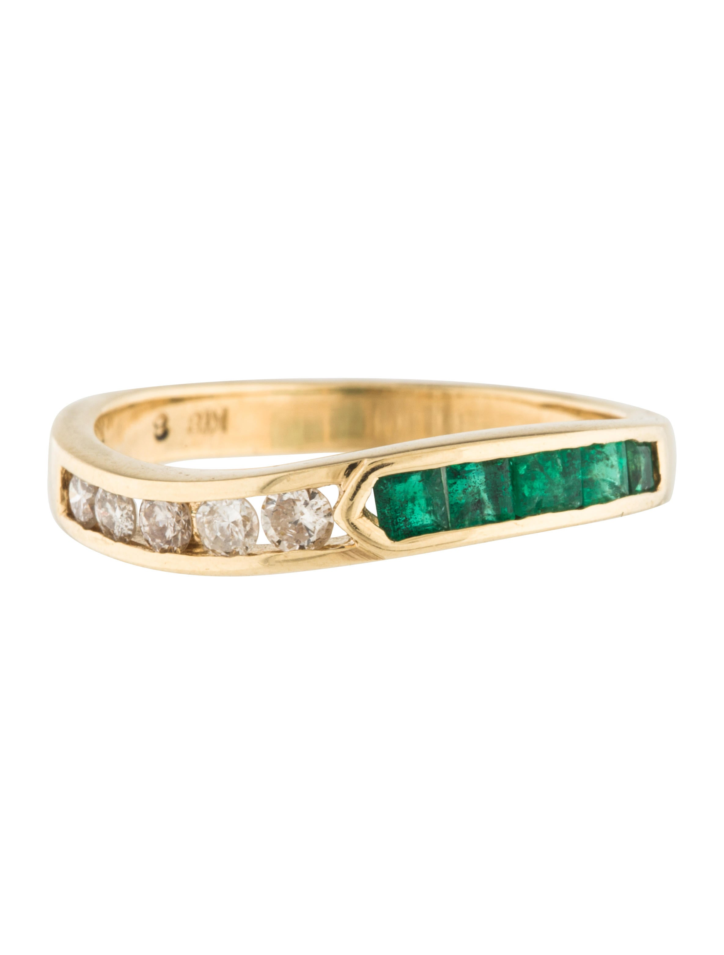 18k emerald ring rings rring34583 the realreal
