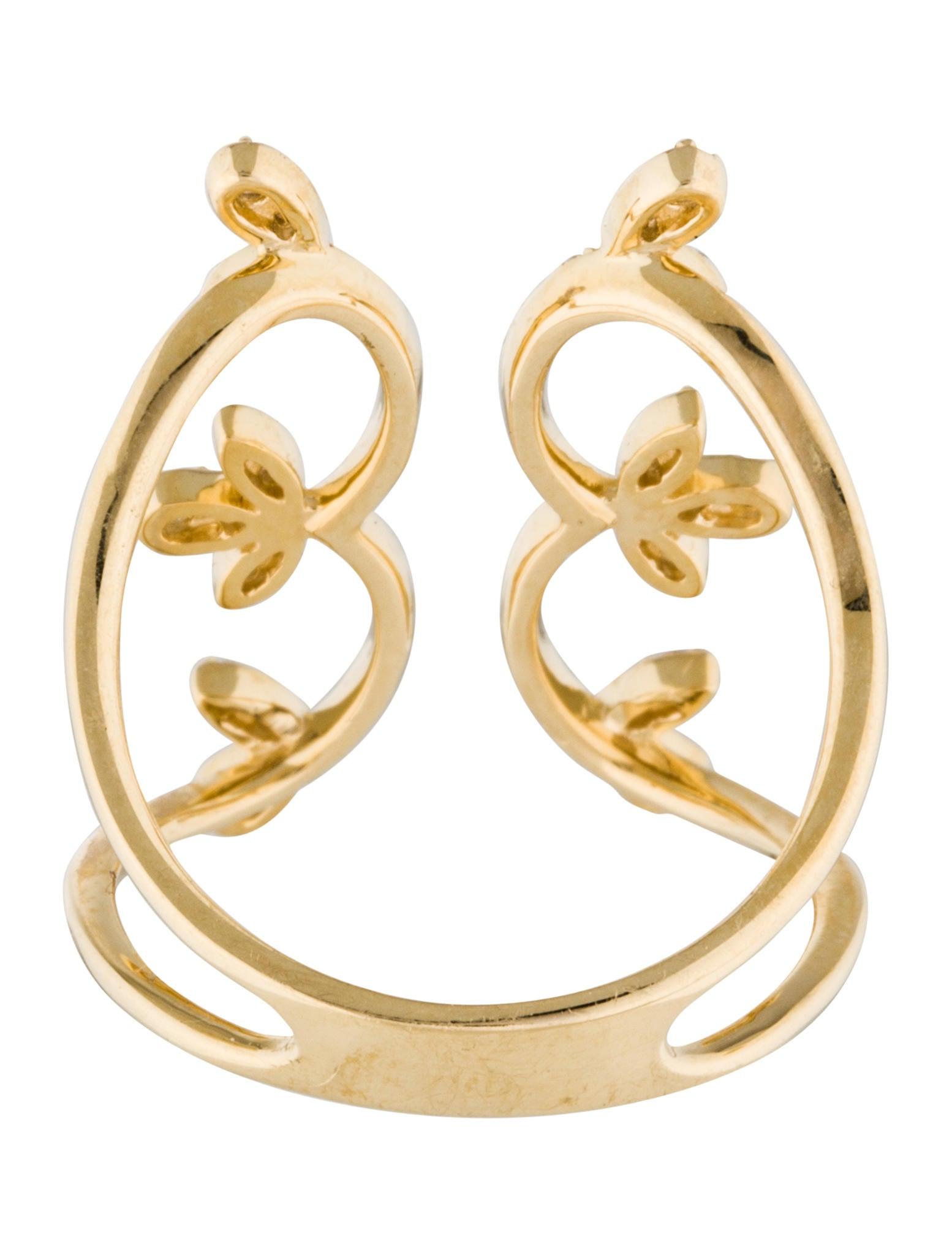 14K Foliate Diamond Open Ring - Rings - RRING35470   The ...