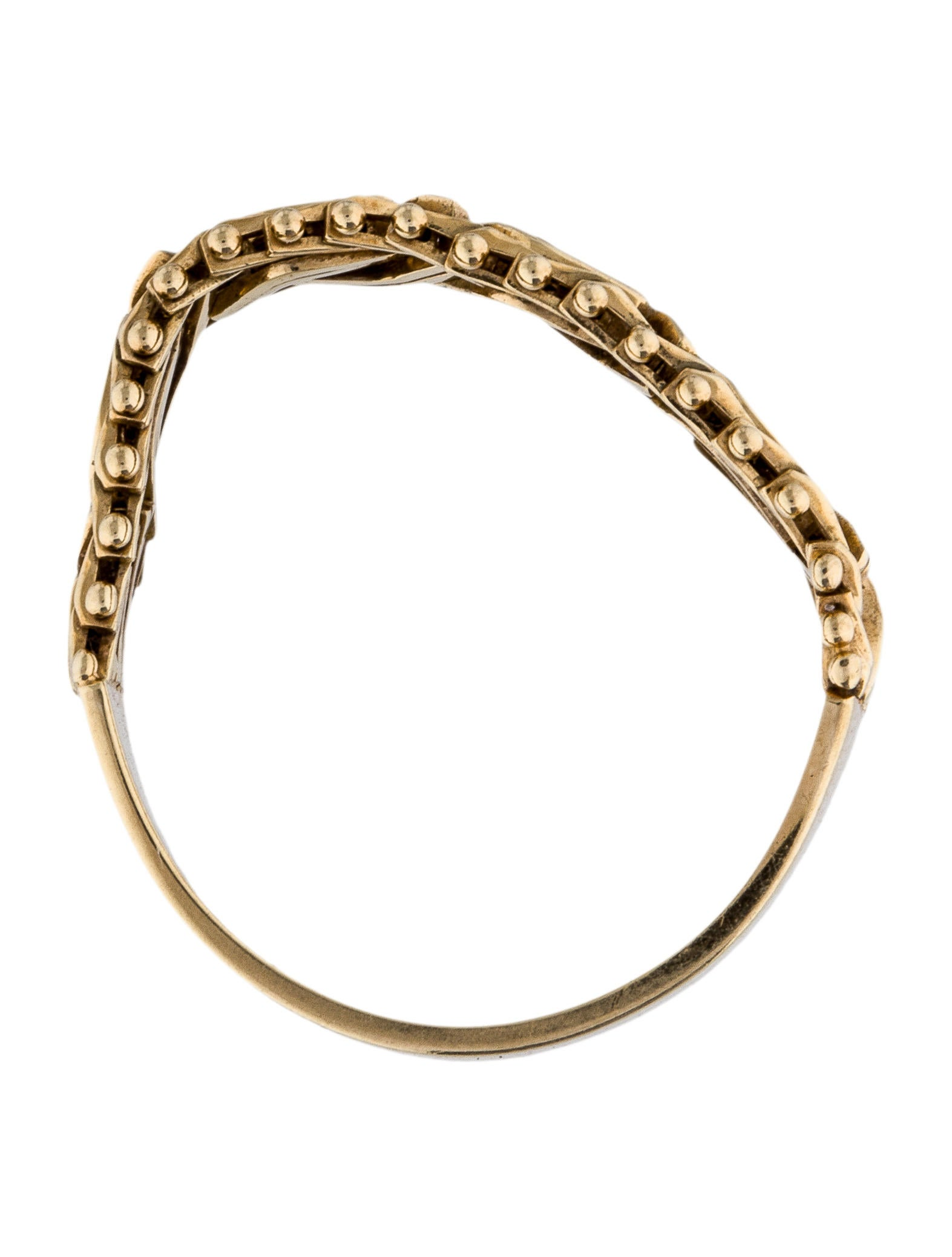 14k Mesh Woven Chain Band Rings Rring35598 The Realreal