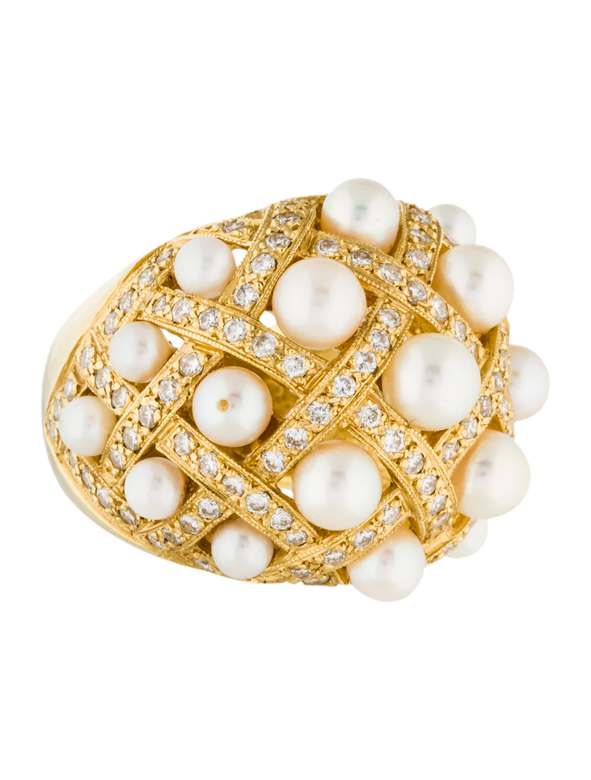 bombe jewelry 18k pearl bombe ring rings rring35654 the 7229