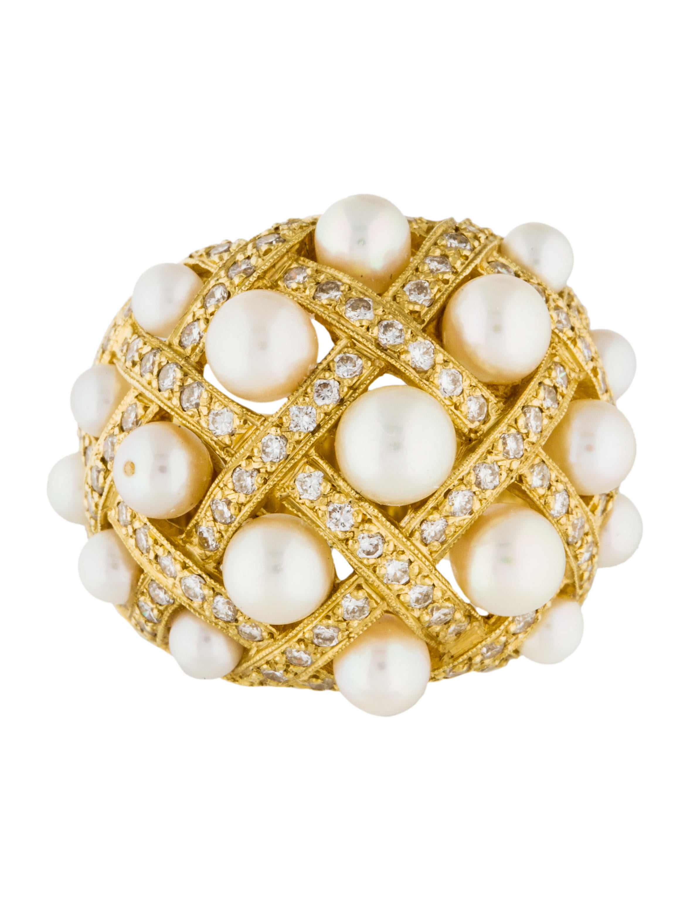bombe jewelry 18k pearl bombe ring rings rring35654 the 8952