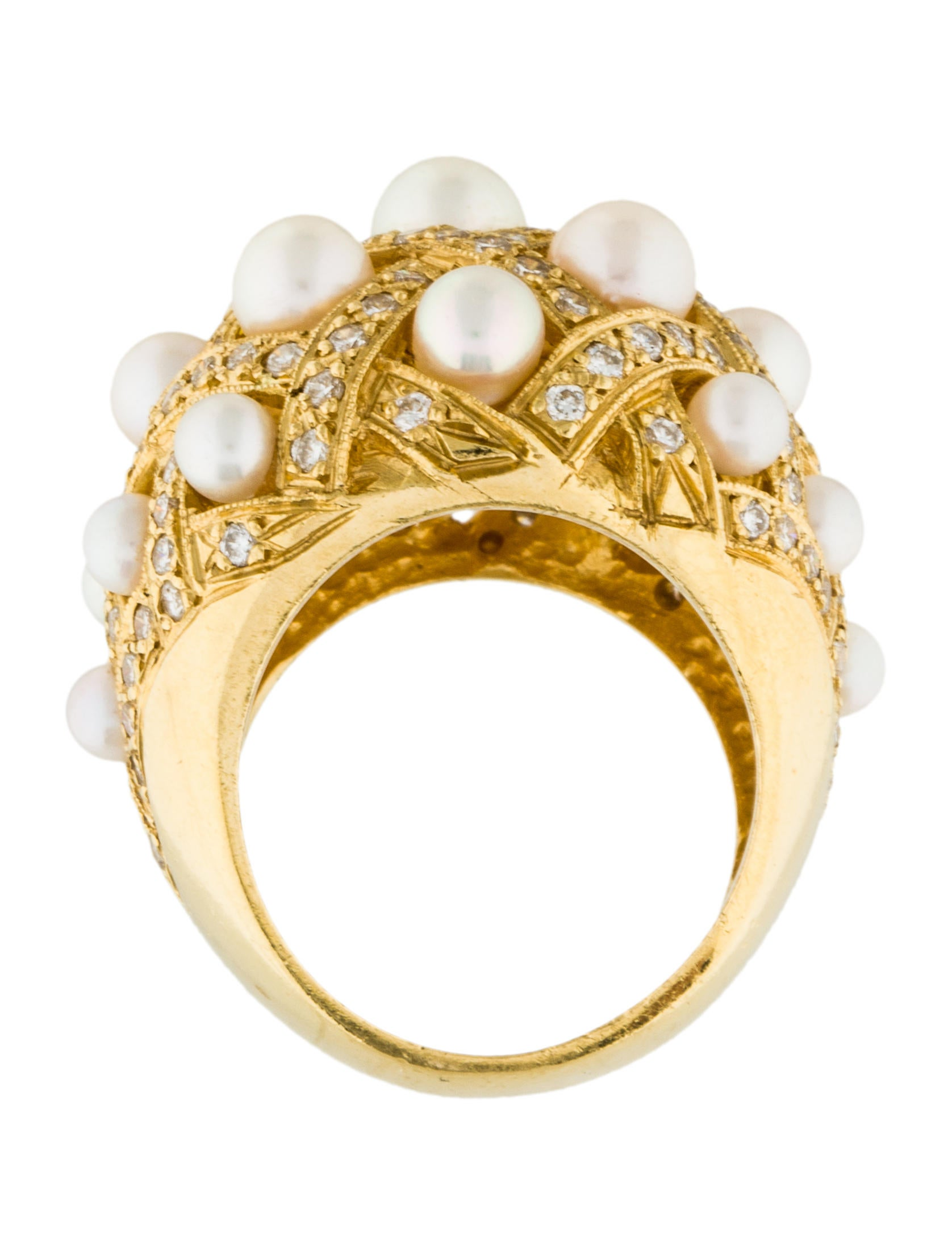 bombe jewelry 18k pearl bombe ring rings rring35654 the 503