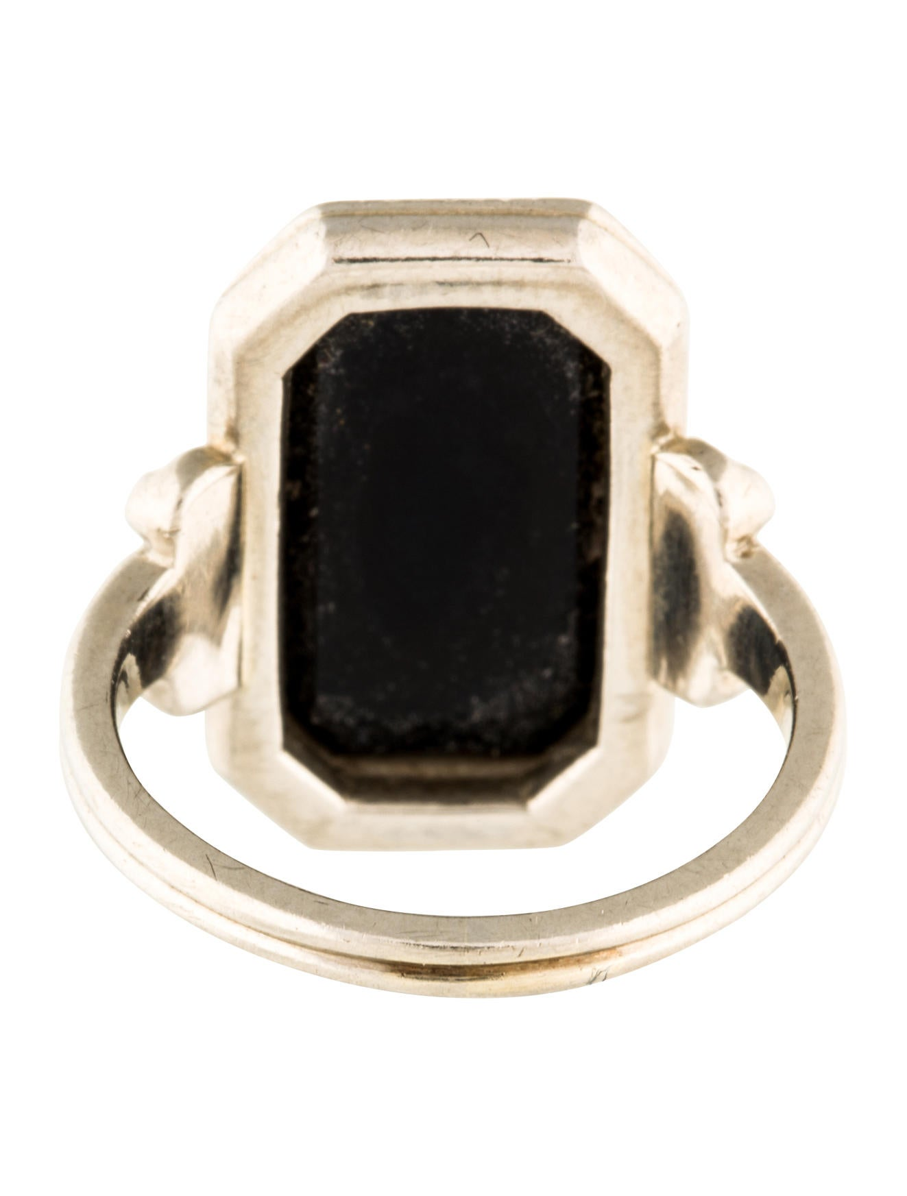 14k Onyx Tablet Ring Rings Rring35727 The Realreal