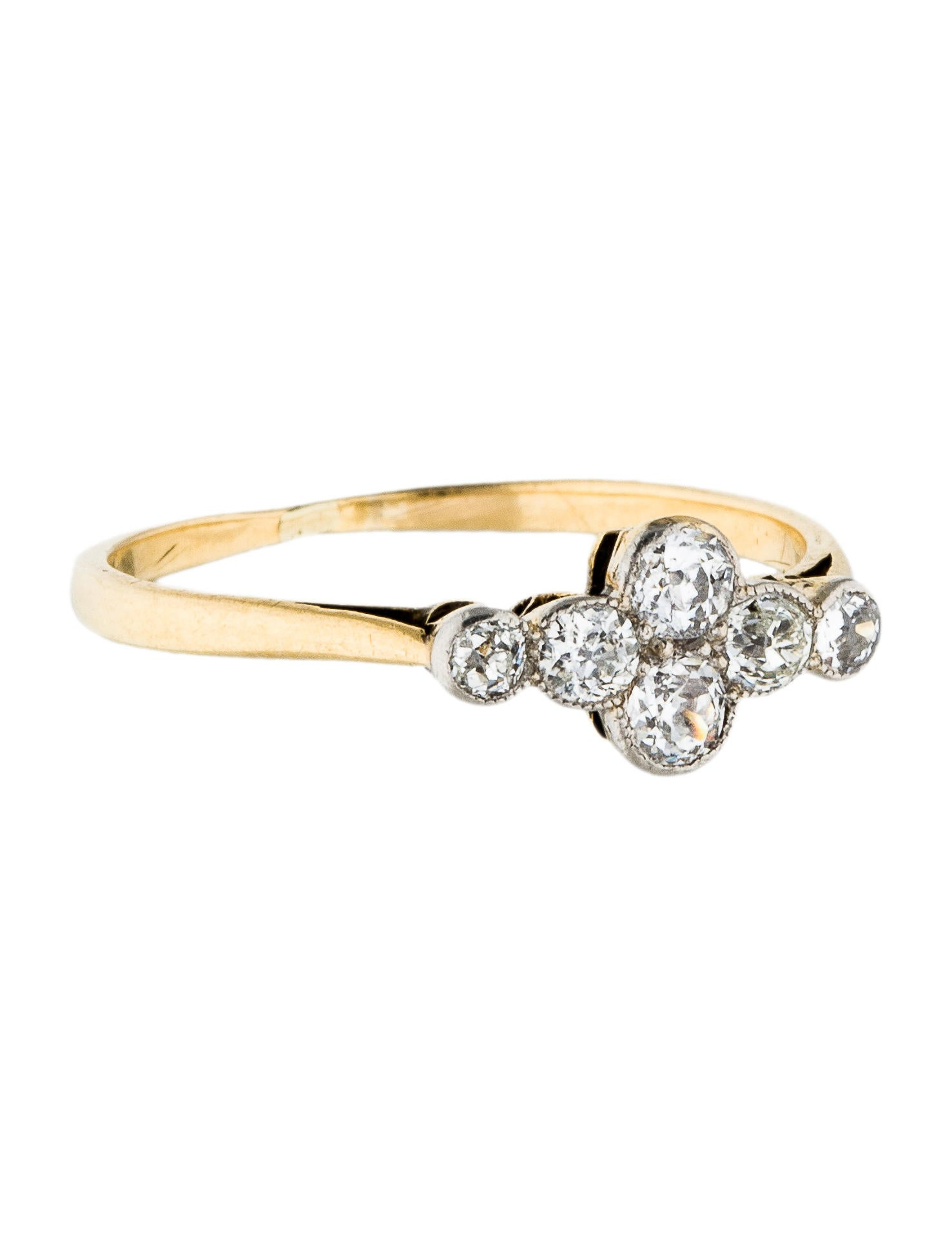 18k platinum antique cluster ring rings