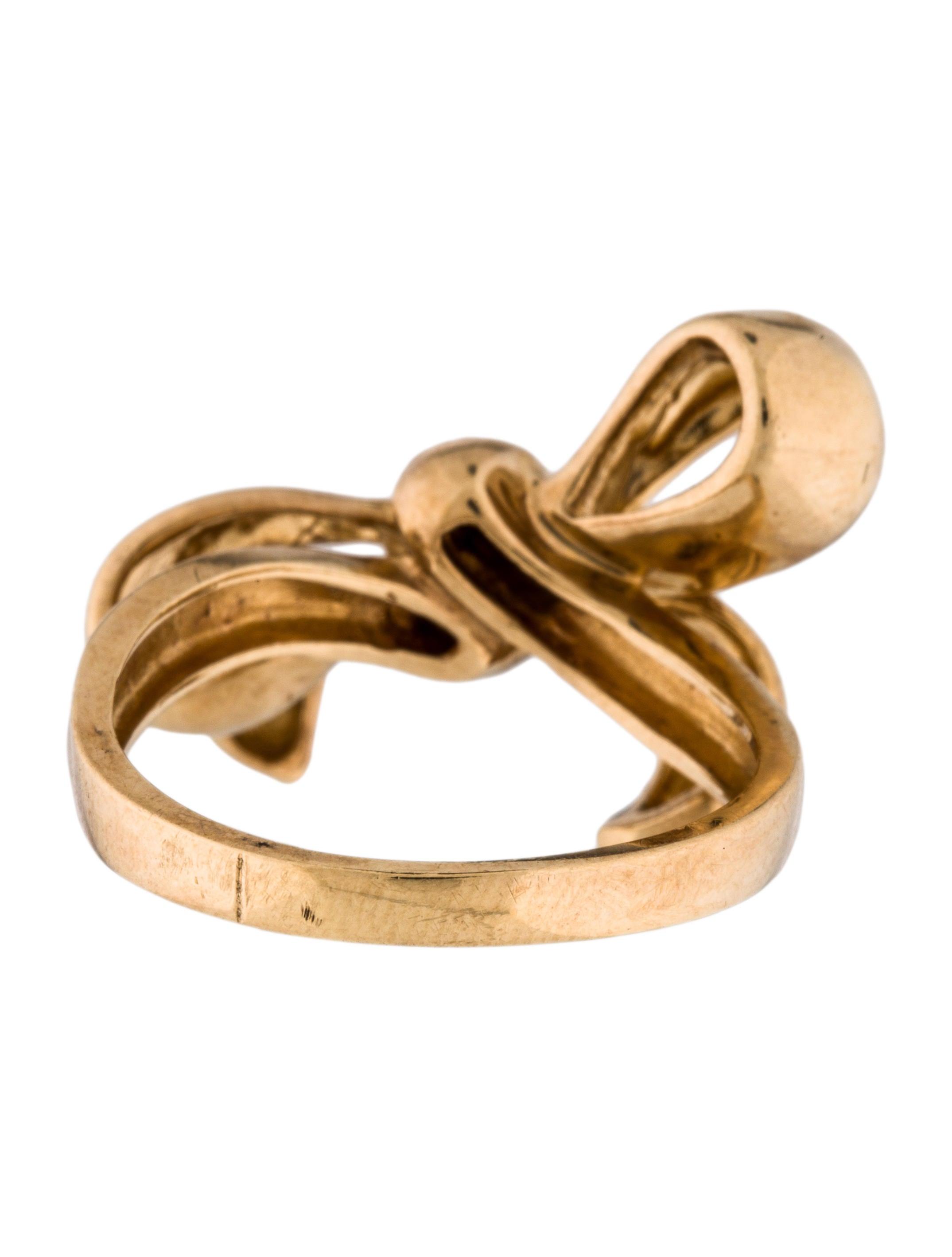 Ring Bow Il Gioiello Personalizzabile Con La Tua Nailart: 14K Bow Ring - Rings - RRING35867