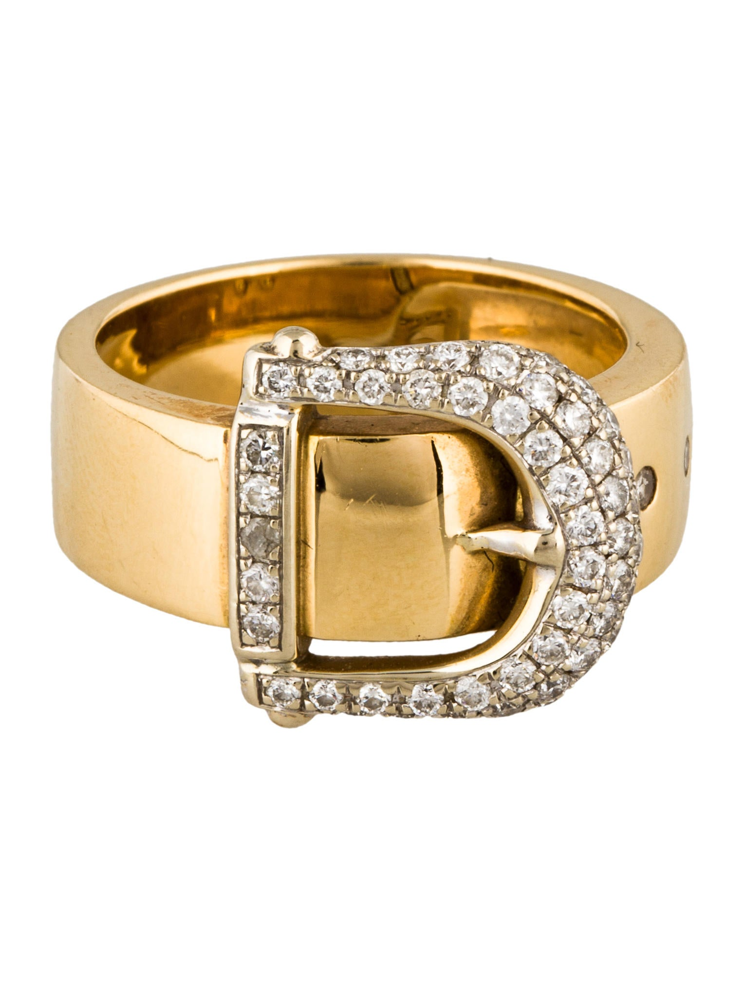 18k buckle ring rings rring36379 the realreal