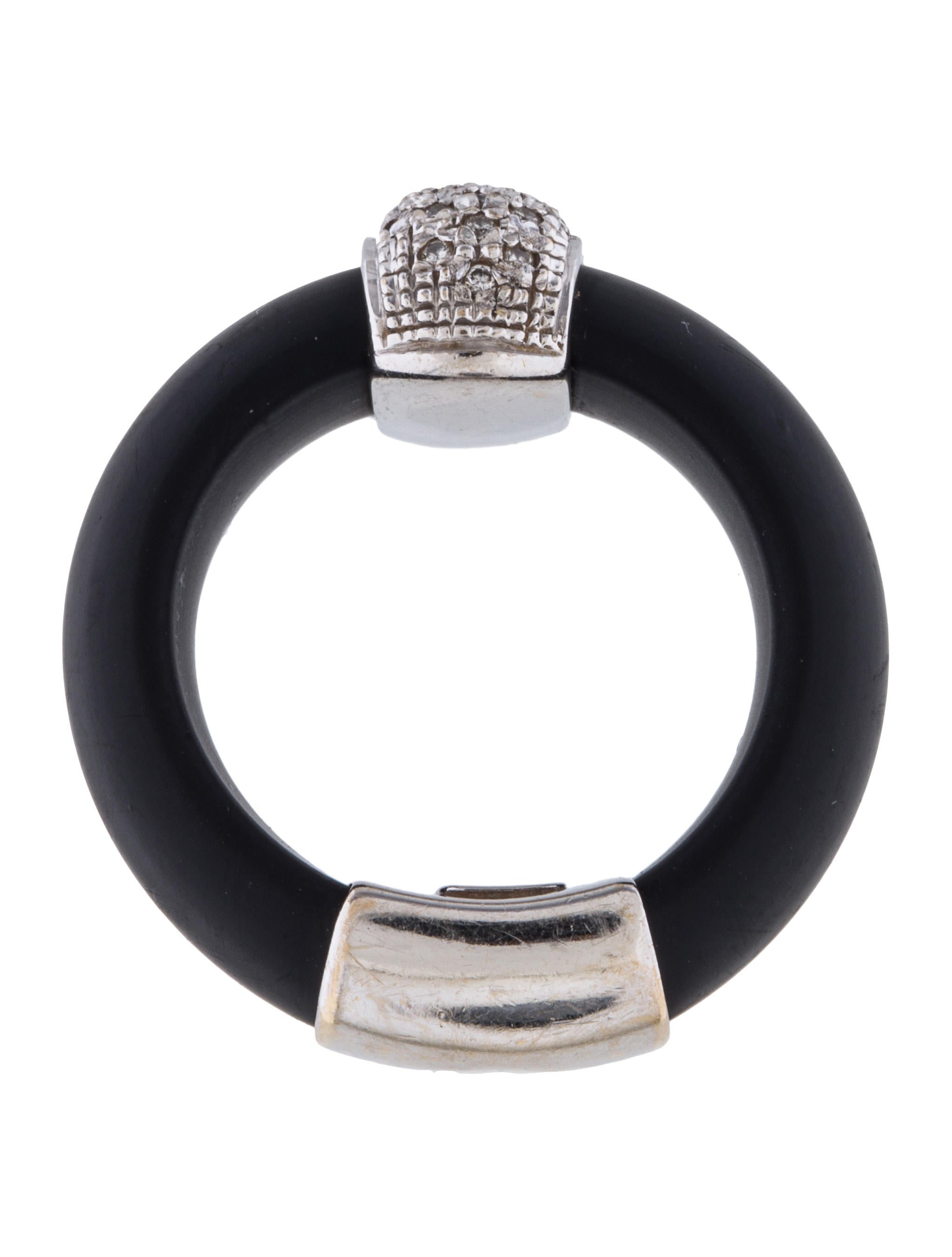18k black rubber ring rings rring37135 the