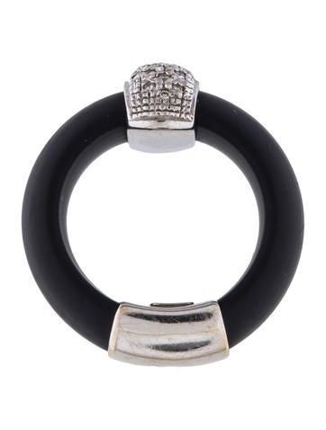 18k black rubber ring rings rring37135 the