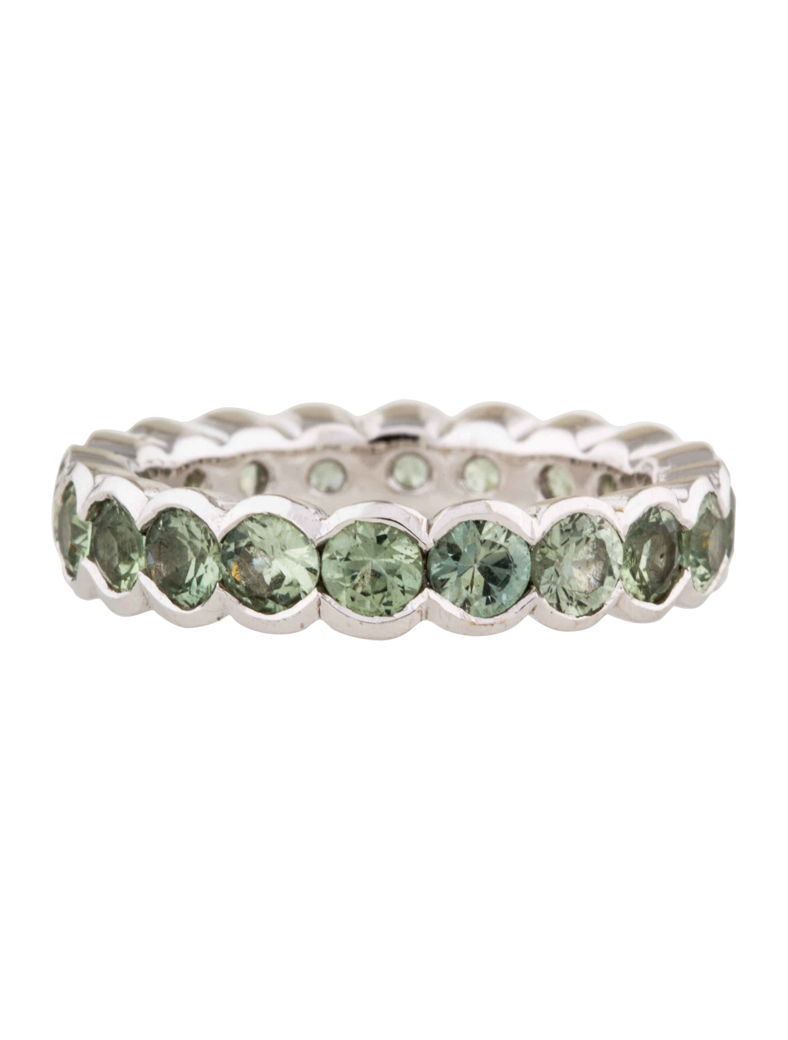 18k sapphire eternity band rings rring37161 the realreal