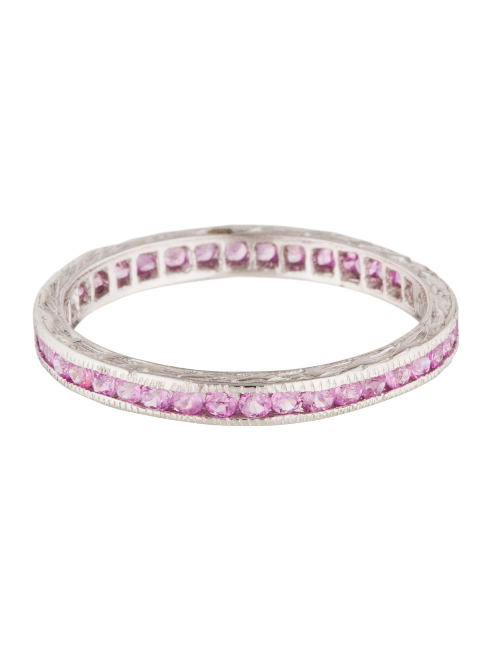 18k Pink Sapphire Eternity Band Rings Rring37186 The