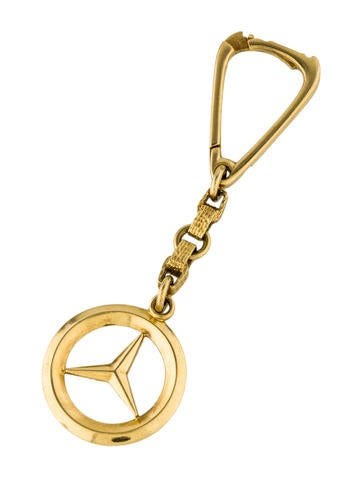 Ring 18k yellow gold mercedes benz keychain accessories for Mercedes benz key chain accessories