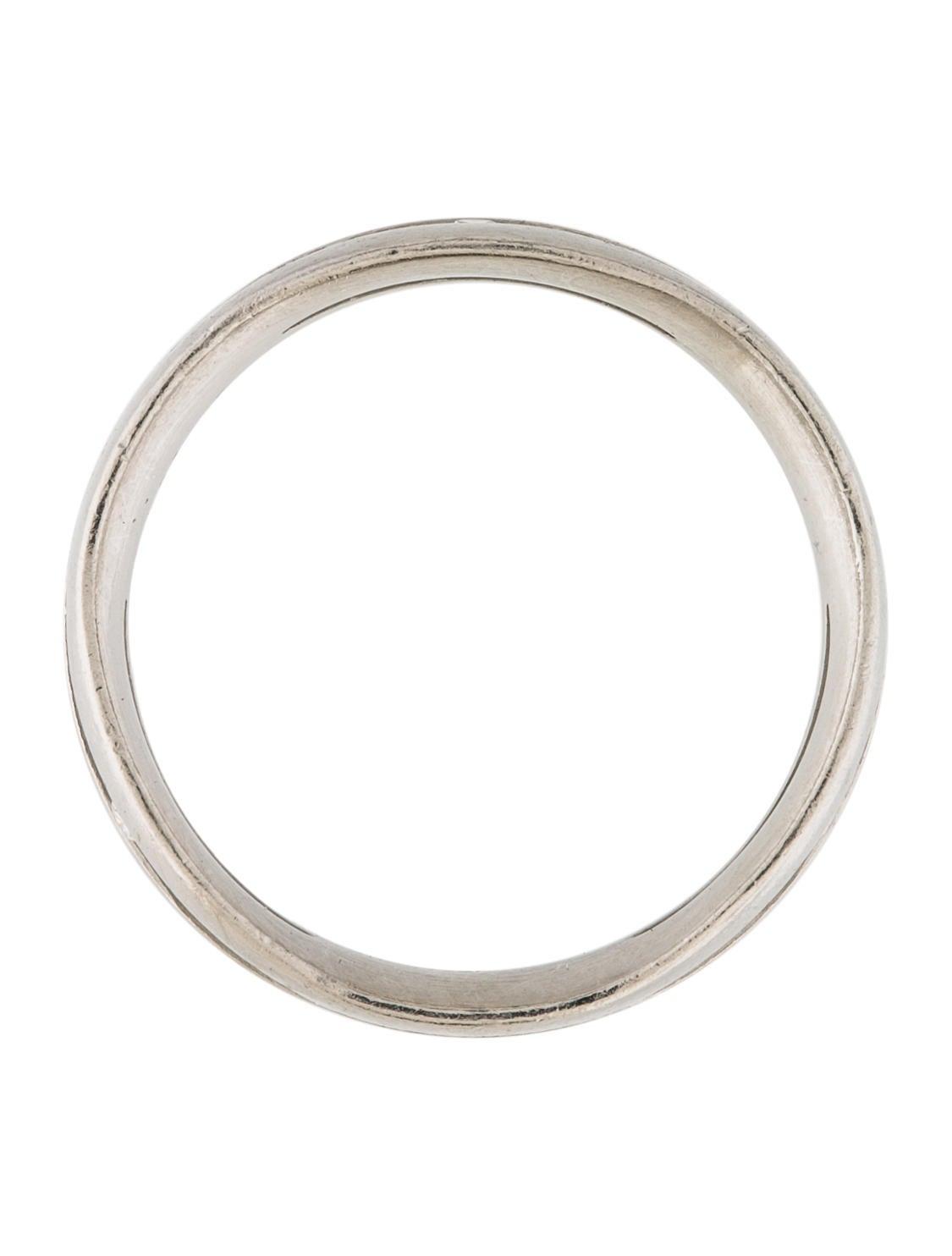 platinum band ring rings rring37716 the realreal