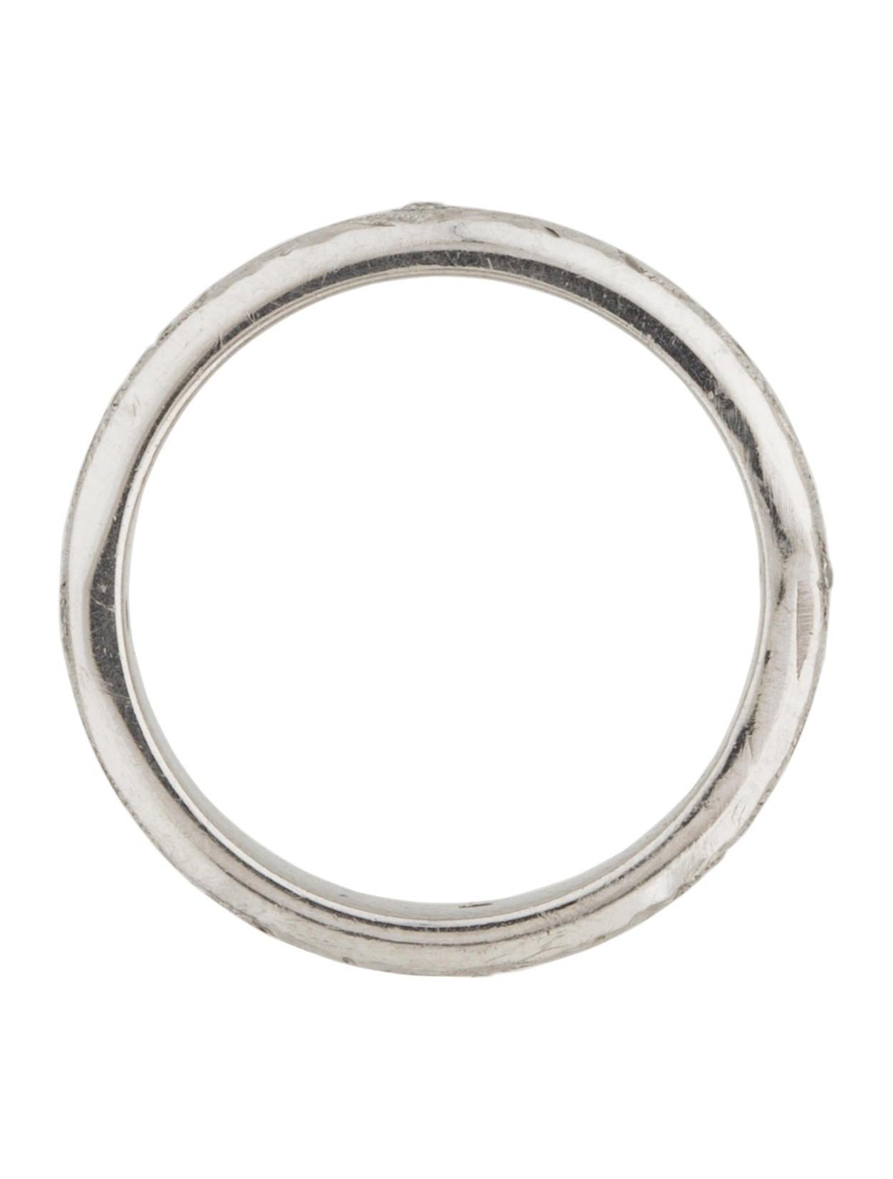 platinum engraved band rings rring38312