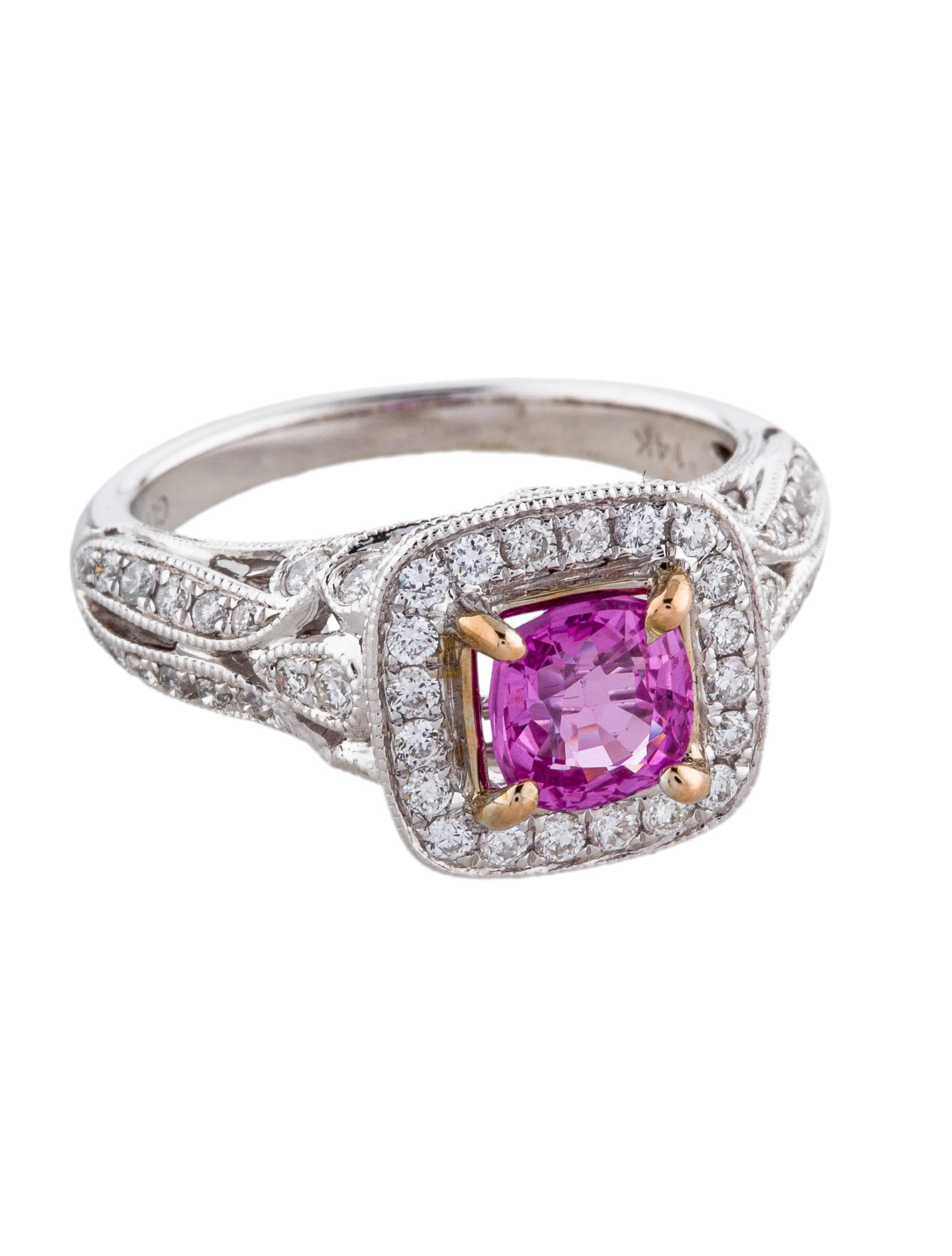 Diamond amp Pink Sapphire Cocktail Ring Rings RRING38365  : RRING383651enlarged from www.therealreal.com size 2269 x 2993 jpeg 386kB