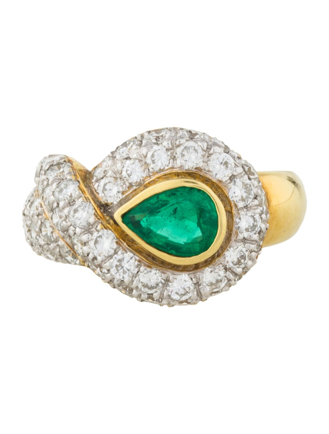 18k emerald cocktail ring rings rring38634