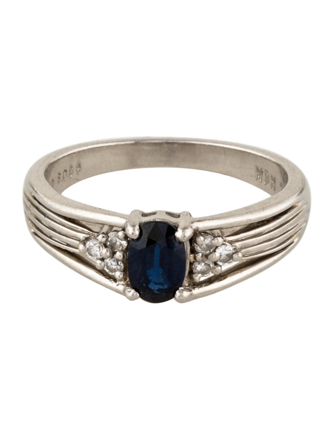 platinum sapphire band rings rring39039