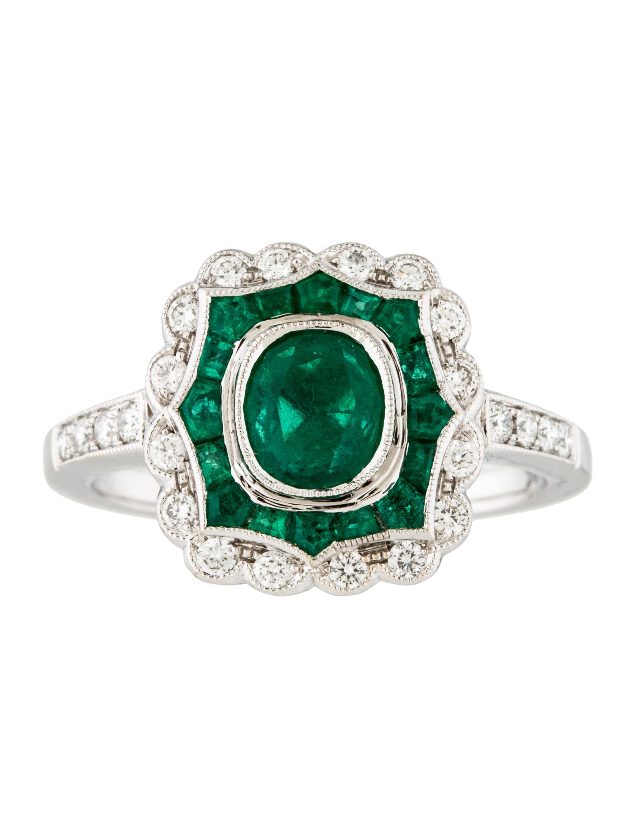 18k emerald cocktail ring rings rring39108