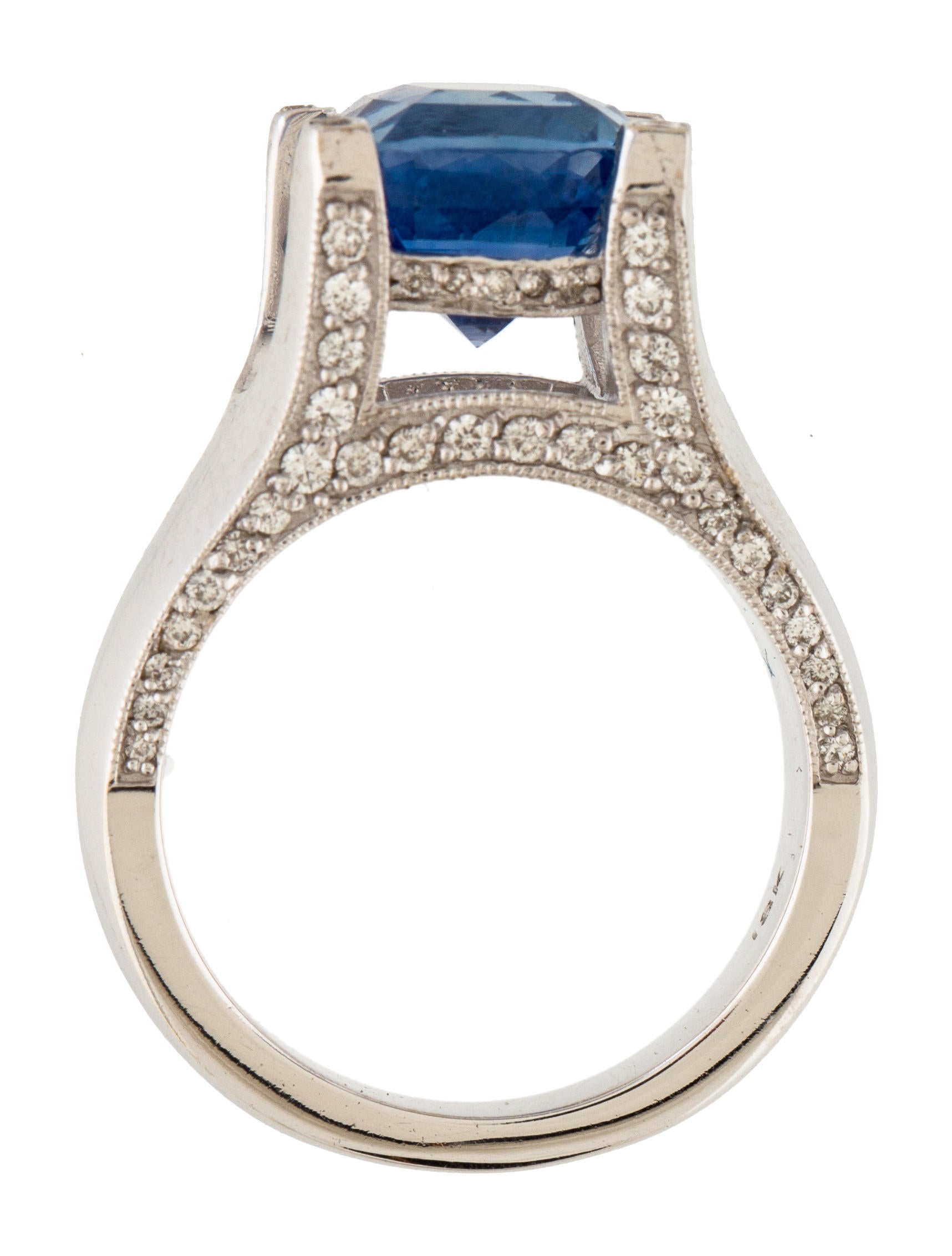 18K Sapphire amp Diamond Cocktail Ring Rings RRING39551  : RRING395515enlarged from www.therealreal.com size 1717 x 2264 jpeg 196kB
