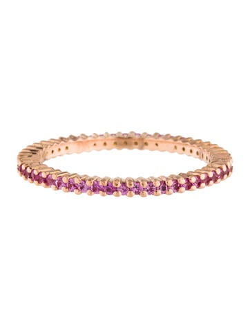 14K Pink Sapphire Eternity Band - Rings - RRING39915 | The ...