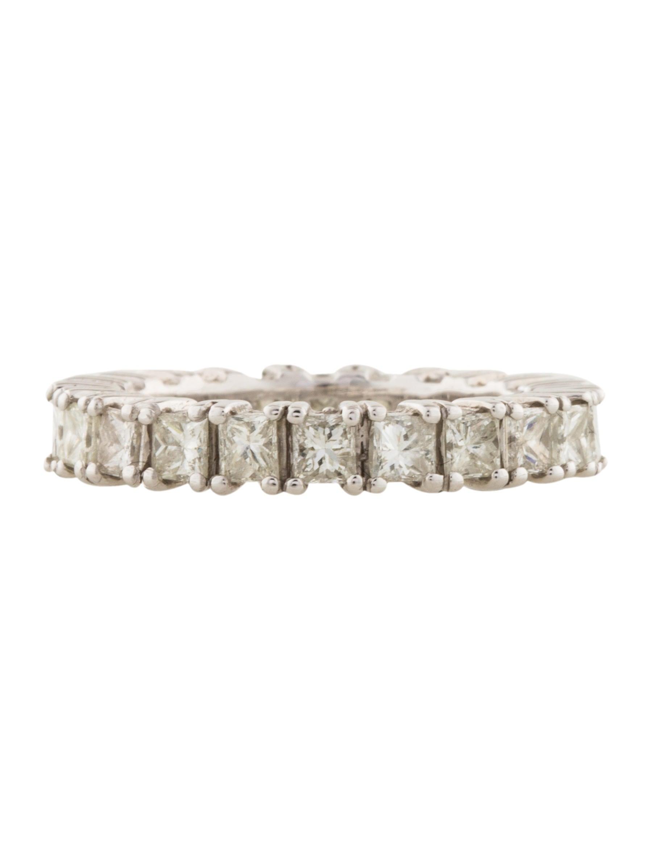 14k princess cut eternity band rings