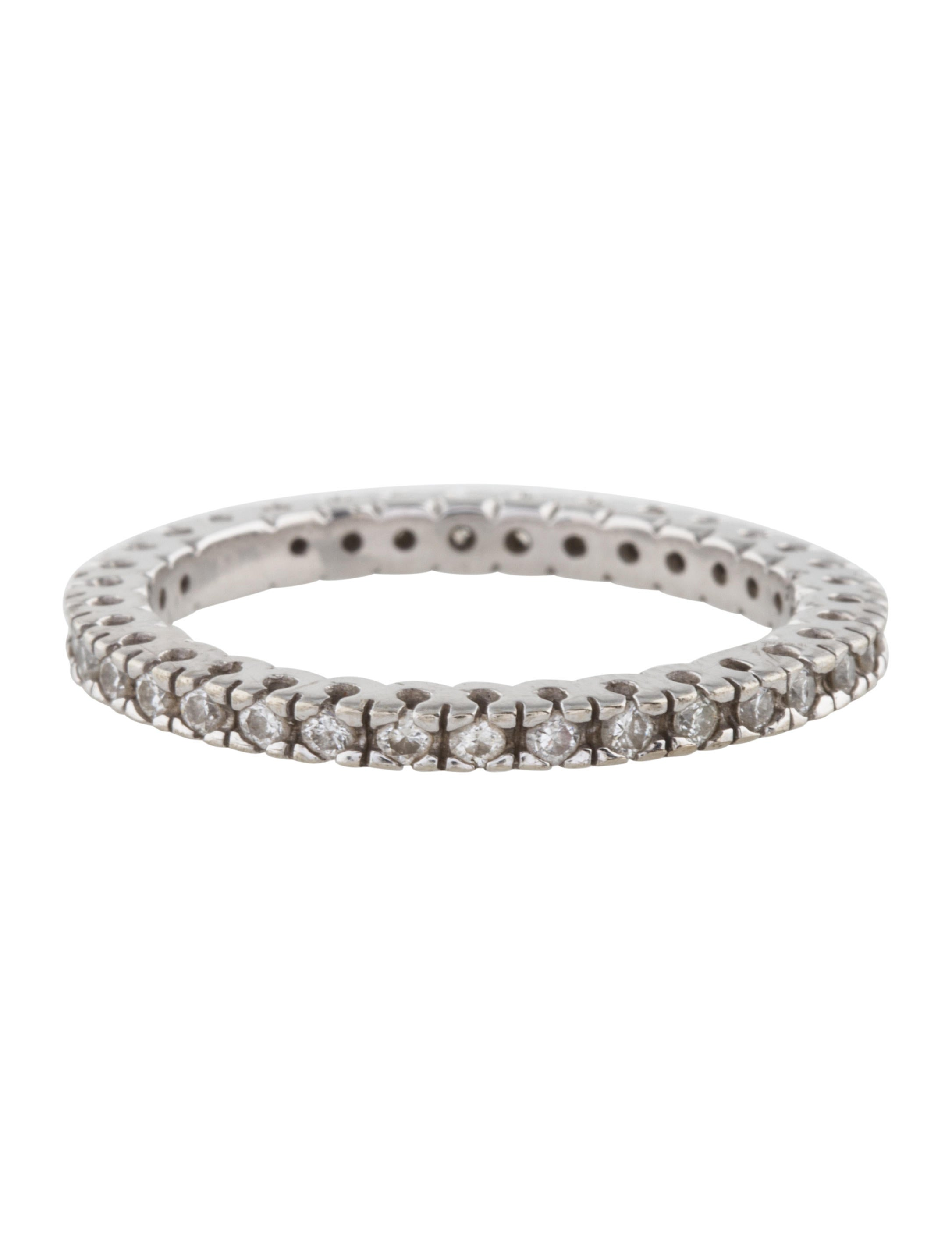 14K Diamond Eternity Band Rings RRING40310 The RealReal : RRING403104enlarged from www.therealreal.com size 2172 x 2866 jpeg 127kB