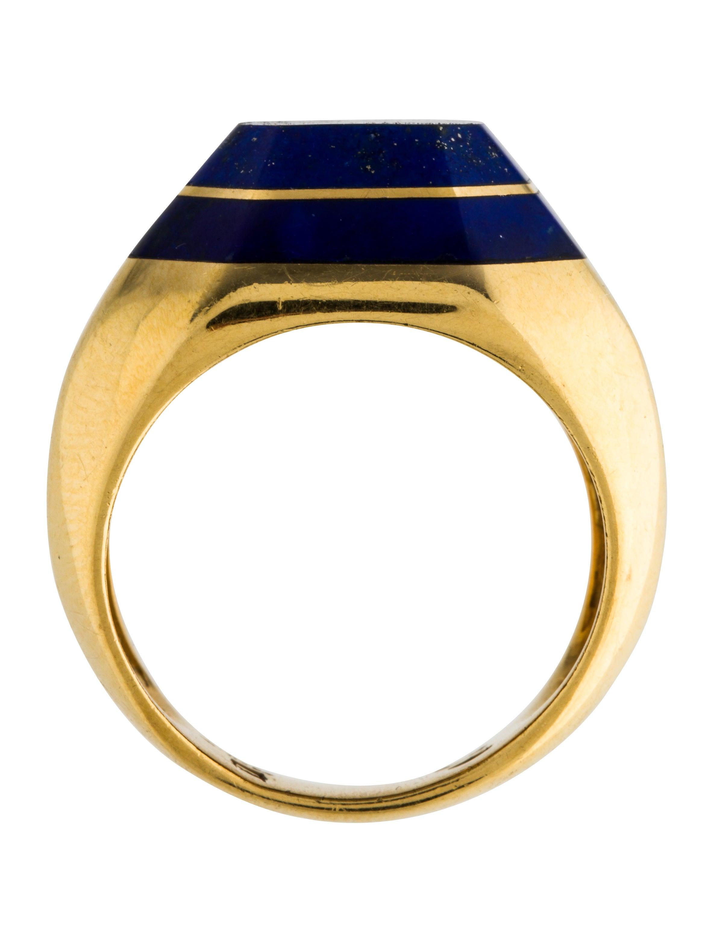18k lapis signet ring rings rring40711 the realreal