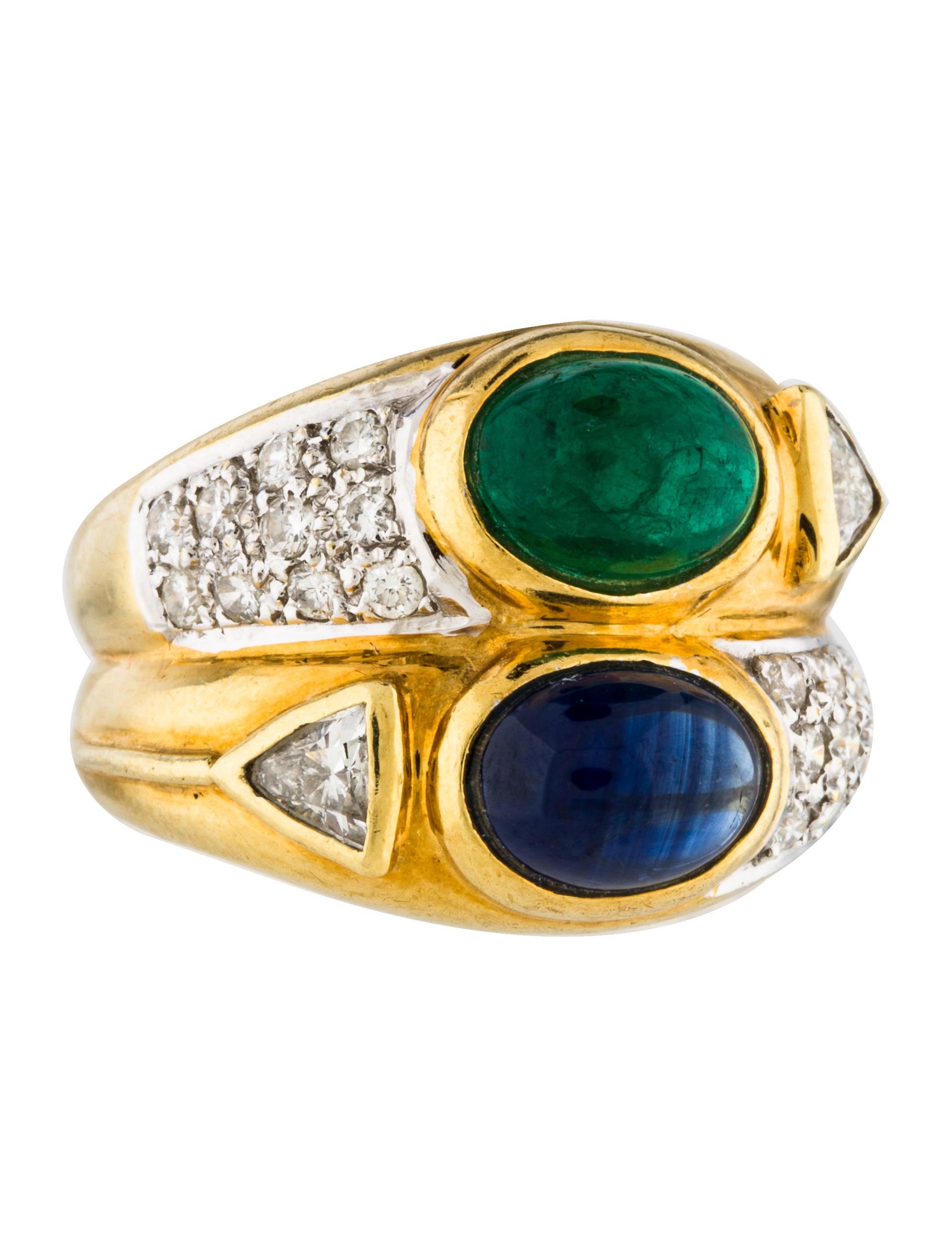 18k emerald sapphire diamond ring rings rring42248. Black Bedroom Furniture Sets. Home Design Ideas
