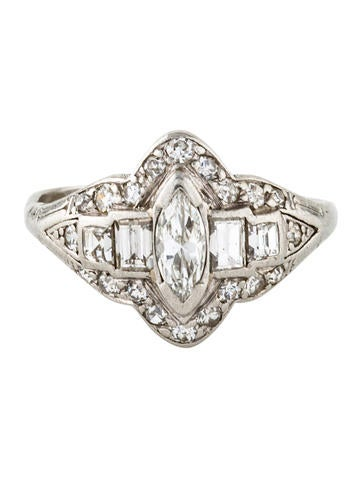 Platinum Art Deco Diamond