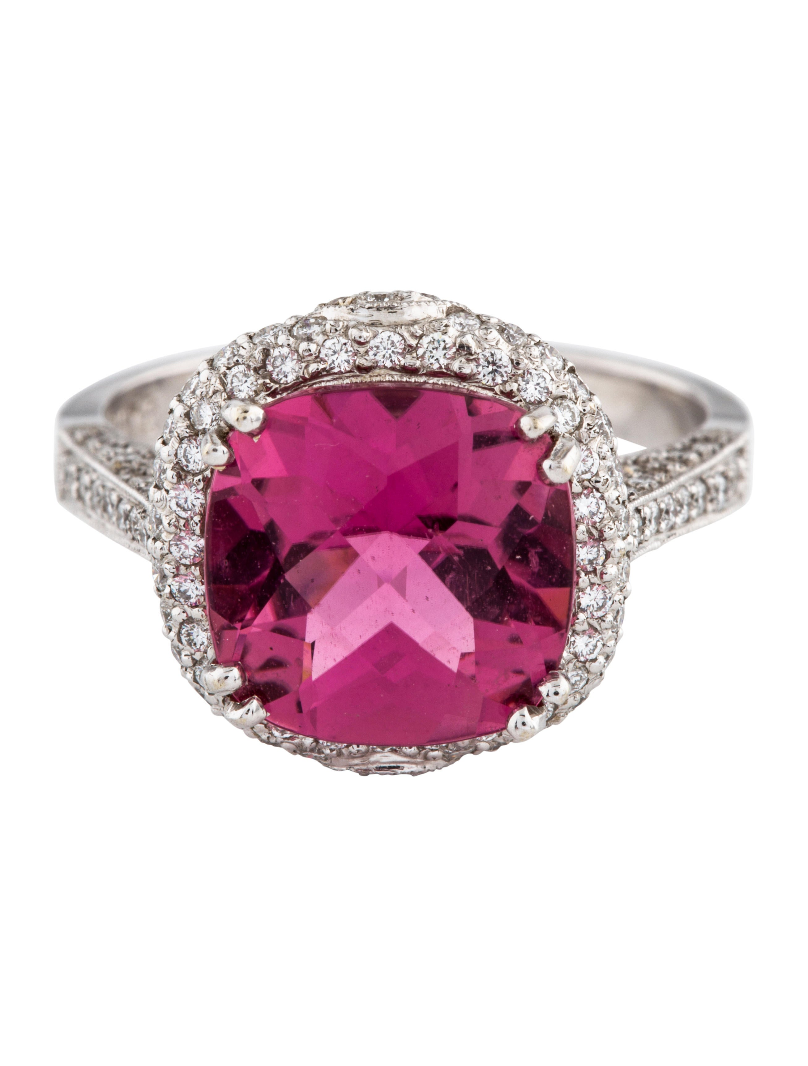 18K Pink Tourmaline & Diamond Ring - Rings - RRING52866 | The RealReal