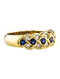 18K Sapphire & Diamond Ring image 1