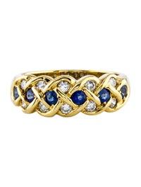 18K Sapphire & Diamond Ring image 3