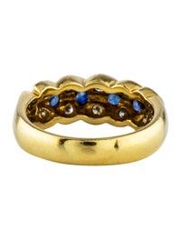 18K Sapphire & Diamond Ring image 4