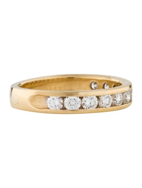18K Diamond Band yellow