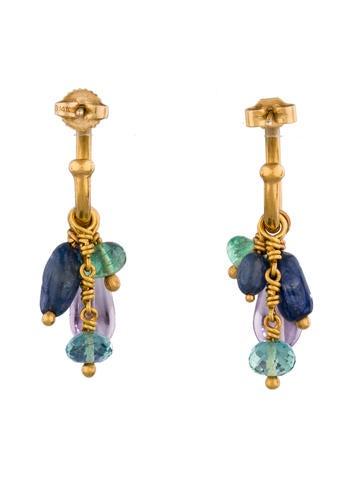 Gemstone Charm Earrings