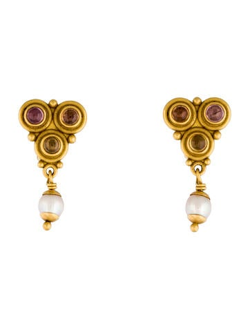 Shire And Pearl Drop Earrings