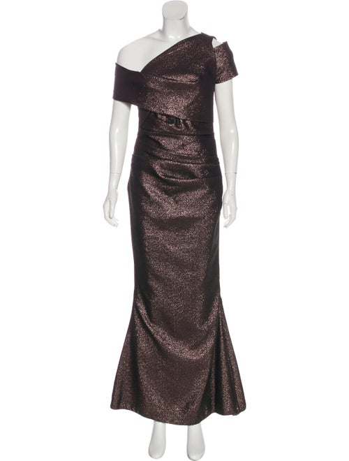 Talbot Runhof Metallic Evening Dress metallic
