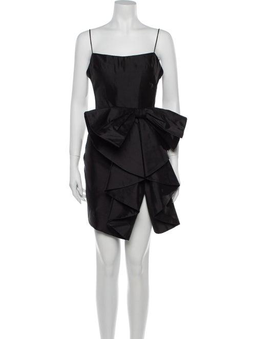Rasario Silk Mini Dress Black