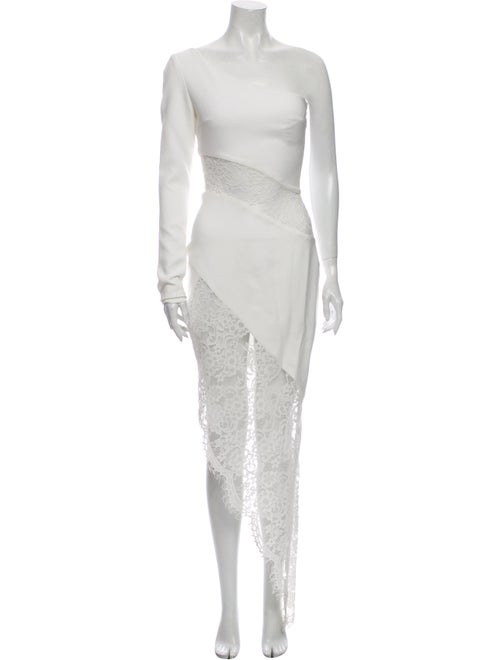 Rasario One-Shoulder Long Dress w/ Tags White