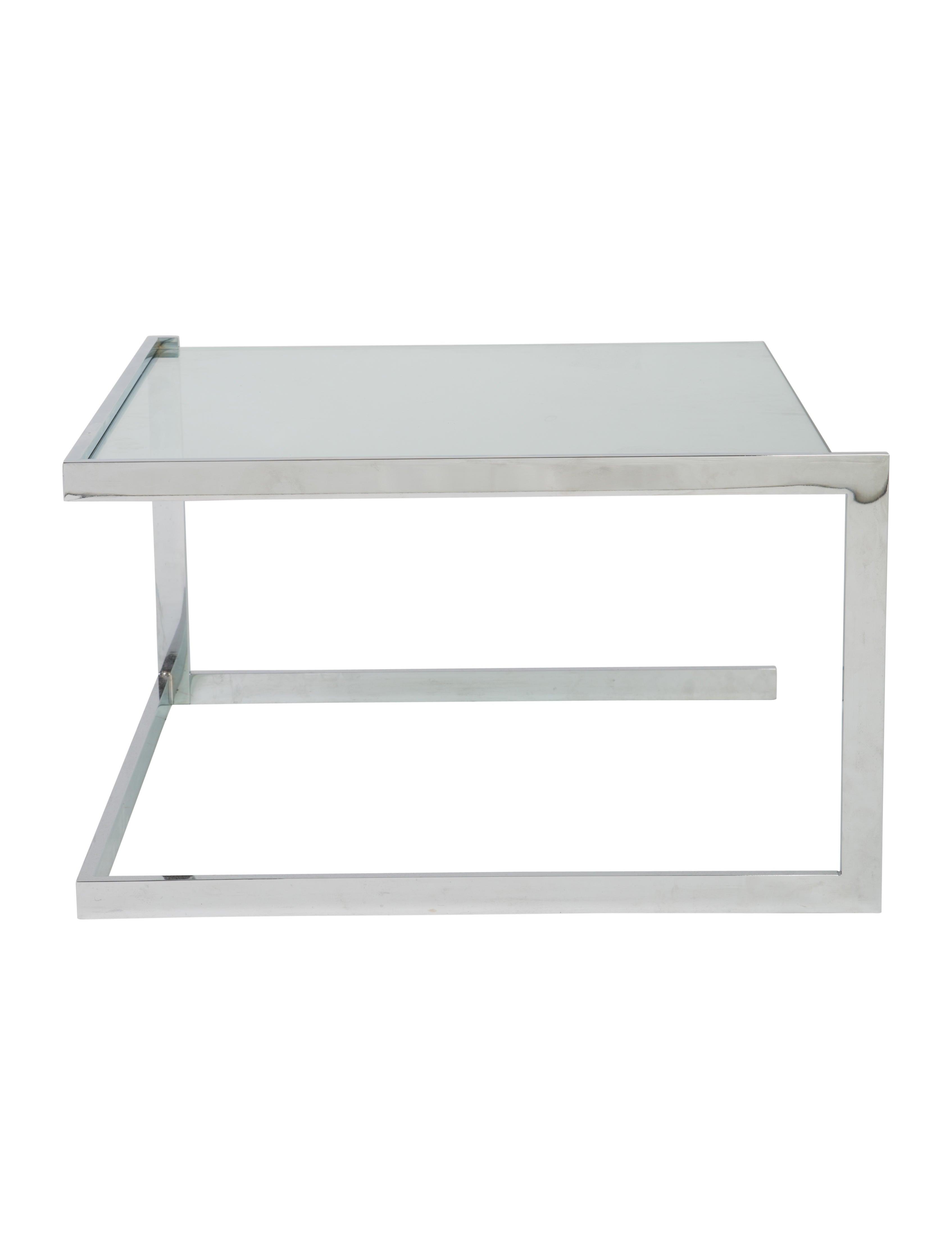 Ligne Roset Pair Of Glass Side Tables Furniture