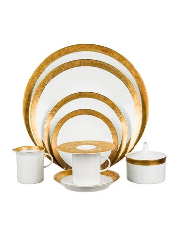 Rosenthal 56-Piece Gold Banded Tableware Set None