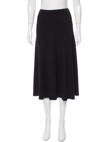 Rosetta Getty Wool Midi Skirt w/ Tags None