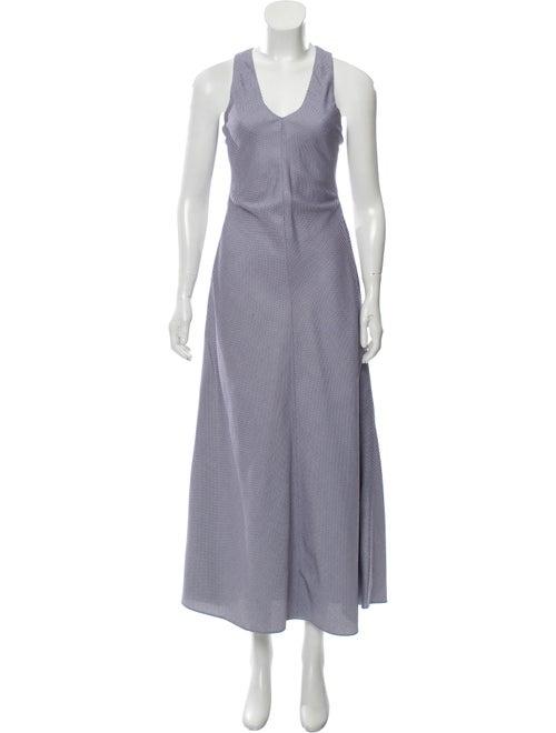 Rosetta Getty Printed Maxi Dress Navy