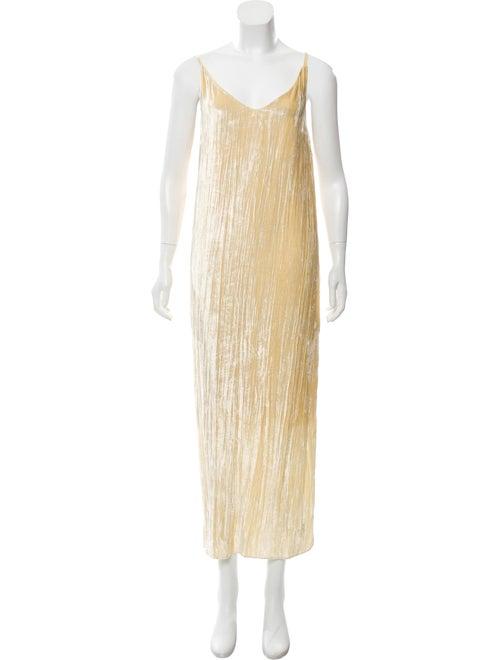 Rosetta Getty Velvet Split Silk Blend Dress w/ Tag
