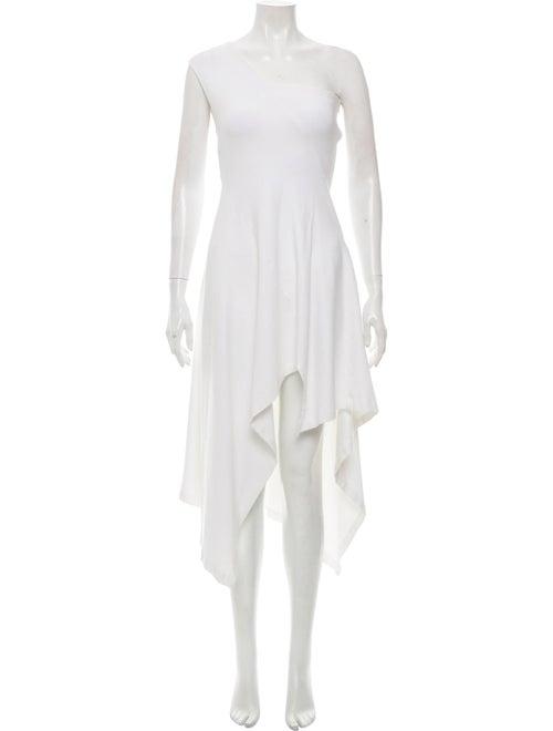 Rosetta Getty One-Shoulder Asymmetrical Dress Whit